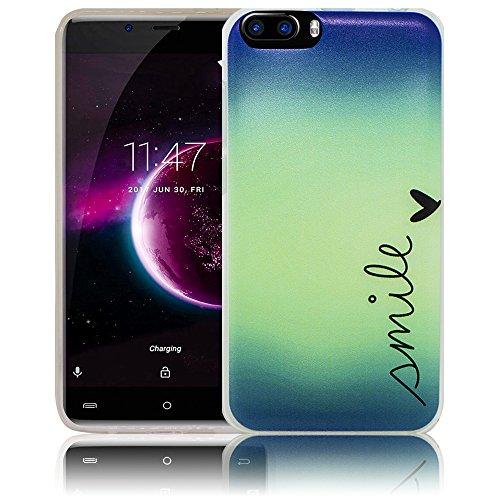 mile Silikon Schutz-Hülle weiche Tasche Cover Case Bumper Etui Flip smartphone handy backcover Schutzhülle Handyhülle thematys® (Smile Magic)
