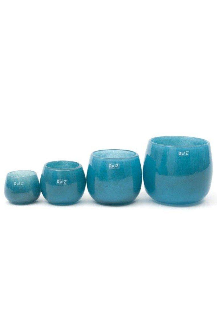 Amazon.de: dutz glas vase  petrol blau, höhe 14cm, durchm. 16 cm