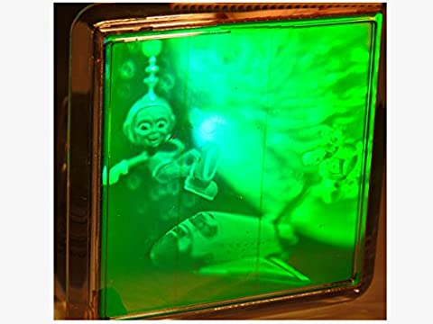 real 3d moving photo holograph hologram space, shuttle laser holographic ,coaster ,rare