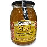 Miel de Azahar con Jalea Real - 1kg - Producida en España - Estimulante y altamente nutritiva - Alta Calidad - Aroma Floral Intenso y Sabor Fuerte y Dulce