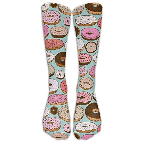 Funny Caps Unisex Donut Sweet Dessert Knee High Long socken Athletic Sports Tube strümpfe For Running,Football,Soccer 50cm