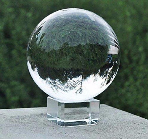 Bolsa de cristal transparente MerryNine de 80mm, K9, con soportes para fotografías, para meditación, Feng Shui y decoración