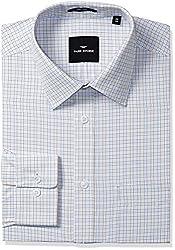 Park Avenue Mens Formal Shirt (8907254135316_PMSK08688-F2_39_Light Fawn)