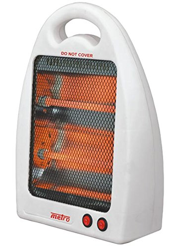 Favy Metro Quartz Room Heaters || 2 Quartz Tube || 2 Heating Setting 400/800/1200 W || Safety tip-Over Switch || With portable handle || High efficiency, Energy Saving