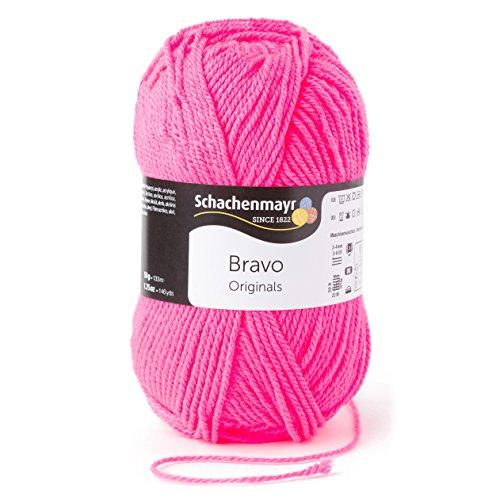 Schachenmayr  Bravo 9801211-08234 neonrosa Handstrickgarn, Häkelgarn