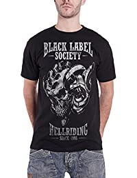Black Label Society T Shirt Hell Riding since 1998 band logo officiel Homme Noir