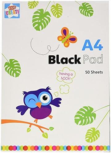 Anker Ensemble d'accessoires pour créer des Arts et crafts crafts et Papier Noir de Dessin, en plastique, couleurs assorties, A4, feuille de 50 c698bd