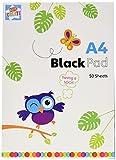 Kids Create: A4 Drawing Black Paper Pad A4 Drawing 50 Black Sheets Pad