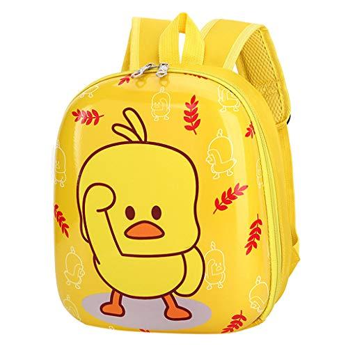 AIni Rucksack Kinder Geldbörsee Schultaschen Weibliche Kinder Entlein Rucksack Grundschule Rucksack Kindertasche Kinderrucksäcke Rucksäck Gelb