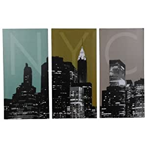 New Stylish Home Decor Bedroom Lounge Modern Print 3 Pack Wall Art Canvas Panels