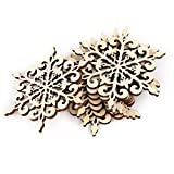 10pcs Holz Weihnachtsbaumschmuck Hänger Schneeflocke Dekoration Dekor …