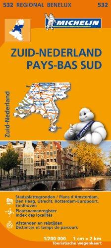 Carte Pays-Bas Sud Michelin par Collectif MICHELIN
