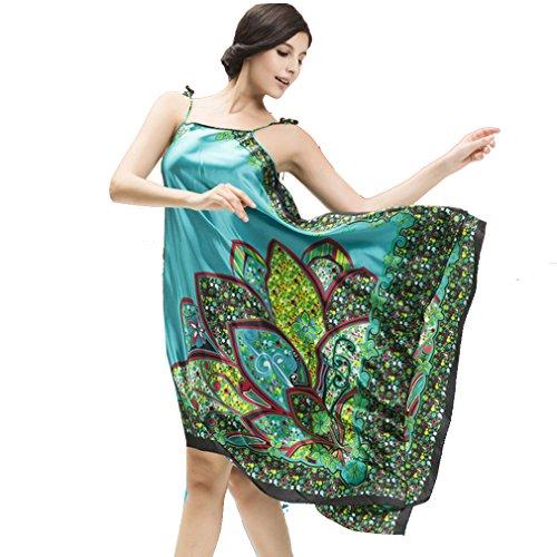 BOYANN Vestaglie e Kimono Boemia Paisley Esotico Pigiami e Camicie da Notte Donna Turchese