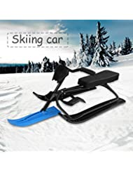 Maistore Snow Racer , Strong Safe Brake Snow Sled Snowmobile with Steering Wheel Ride On Snow Grass Sand Scooter