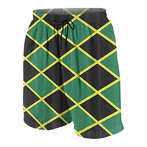 vcbndfcjnd Jamaican Flag Stripe Caribbean Island Boys Beach Shorts Quick Dry Beach Swim Trunks Kids Swimsuit Beach Shorts,Boys' Athletic Basketball Short S