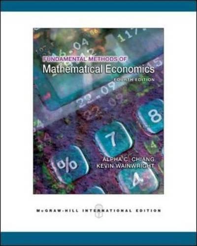 Fundamental method of mathematical economics por C. Chiang Alpha