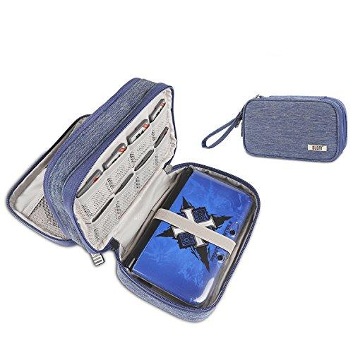 Funda para Nintendo, Bolso Correa para el Hombro Ajustable Juego de accesorios de viaje para Nintendo Consola y accesorios Original DS 3DS DS Lite Nintendo 3DS XL DSi etc, Azul