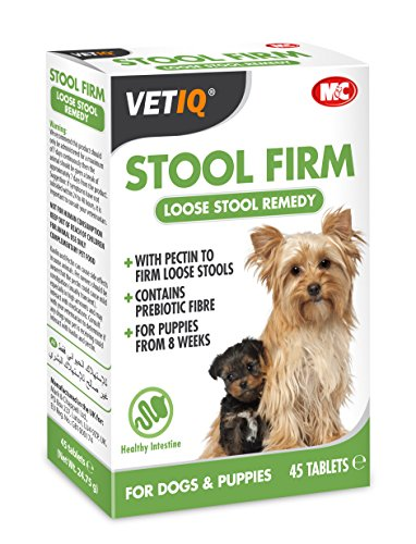 VetIQ Stool Firm 45 tabs  Loose Stool Remedy With Prebiotic Fibre
