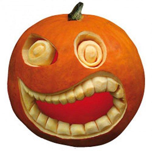 1art1 78458 Halloween - Grinsender Kürbis, Zeig Mir Deine Zähne Poster-Sticker Tattoo Aufkleber 9 x 9 cm