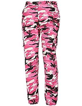 Pantalones de camuflaje Girls hibote Pantalón militar Hip Hop Jogger Dance Pant
