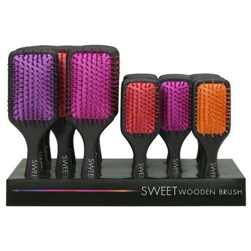 offer-for-retailers-batch-of-16-soft-wodden-hairbrushes-detangling-massing-paded-hairbrush-sweet-col