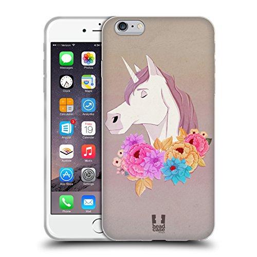Head Case Designs Chat Fleurs De Pré Étui Coque en Gel molle pour Apple iPhone 5 / 5s / SE Licorne