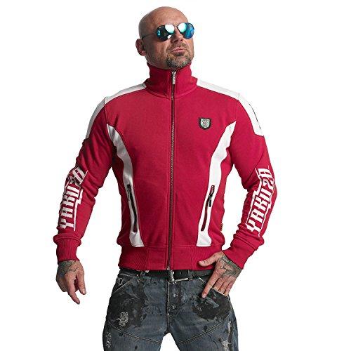 Yakuza Original Herren Skull Trainingsjacke Zipper Ribbon Red
