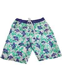 SoulStar Mens Bright Floral Patterned Long Board/Swim Shorts