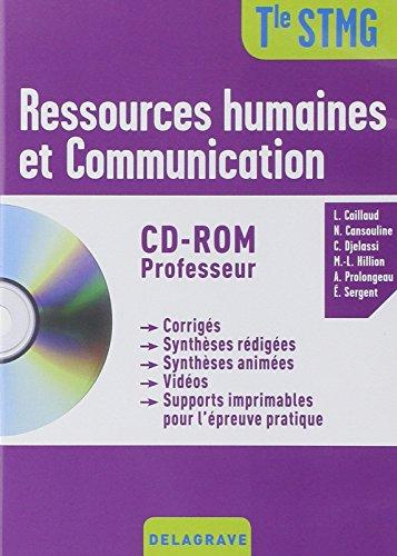 Ressources humaines et communication Tle STMG (1Cédérom)
