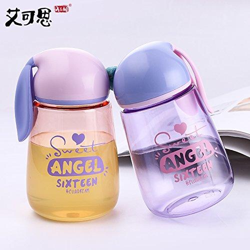 Kinder Wasser Flasche Kaninchen Kind Trinken für Flasche Tragbar Bike Tumbler Baby Wasser Tasche auslaufsicher Tee Flasche rose