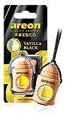 AREON Fresco Désodorisant Voiture Liquide Vanille Noir Bouteille en Bois Flacon Rétroviseur Pendu 4ml (Vanilla Black Lot de 1)