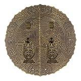 Chinesischer antiker Klopfer, Retro Griff Runde Möbelgriffe Bücherregal Kleiderschrank Tür Vintage Türgriff-Bronzene U-förmige Nadel-14Cm