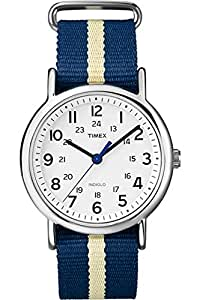 Timex Unisex-Armbanduhr Weekender Slip-Through Strap Analog Quarz Nylon T2P142D7