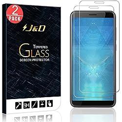 J&D Compatible pour 2 Paquets Protection écran Desire 12, [Verre Trempé] [Non Couverture Complète] Protecteur d'Écran Clair HD pour HTC Desire 12