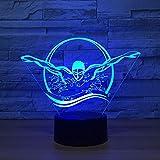 La forme de nageur a mené la lampe de table pour le décor à la maison USB et la charge de batterie ont mené la lampe pour le contact coloré de bébé a mené la lumière