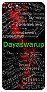 Dayaswarup (Merciful) Name & Sign Printed All over customize & Personalized!! Protective back cover for your Smart Phone : Samsung Galaxy A-3