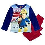 STOR S.L. Sam El Bombero - Fireman Sam - Pijamas Niños Teddy Fleece 98-128, Schlafanzug:128, Farbe:Rojo