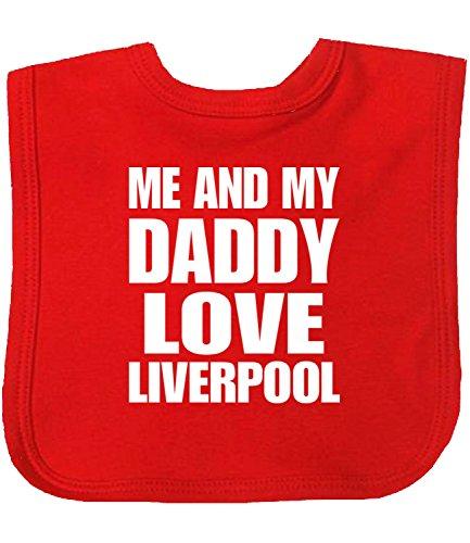 3891c29cb18d8 Niccolas B Me and my Dad Love Liverpool Bavoir en coton avec fermeture  Velcro pour bébé