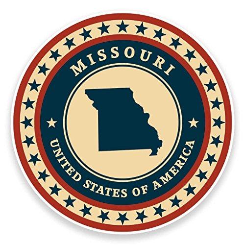 Preisvergleich Produktbild 2x Missouri USA vinyl Aufkleber Aufkleber Laptop Auto Reise Gepäck Label Tag # 9354 - 10cm/100mm Wide