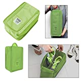 Urban Living Travel Shoe Pouch For Your Priceless Shoes(20.32X30.48X17.78 Cm,Green)