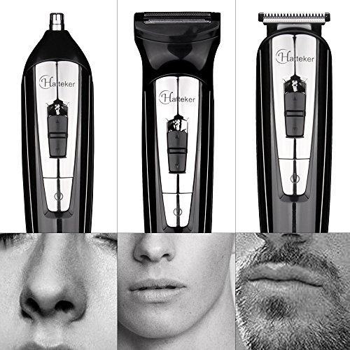 Hatt eker 3en 1para la barba Kit para hombres Cuerpo Groomer Kit Bigote recortador inalámbrico máquinas de cortar pelo nariz cortapelos con indicador LED USB recargables Regalos para Hombres