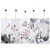 Nuolux 5pcs Perles Marque-page Motif floral papèterie Marque-page pour Note book