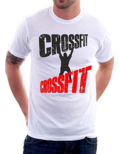 t-shirt Crossfit - personal training hard - S M L XL XXL maglietta by tshirteria bianca