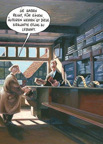 Postkarte A6 • 13620 ''Lebhafte Krawatte'' von Inkognito • Künstler: Marunde • Satire • Cartoons
