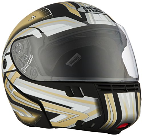 Studds Full Face Helmet Ninja 3G D1 (Matt Black N12, L)