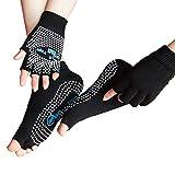 Best Yoga Gloves - LJ Sport Women Girls Yoga Socks and Gloves Review