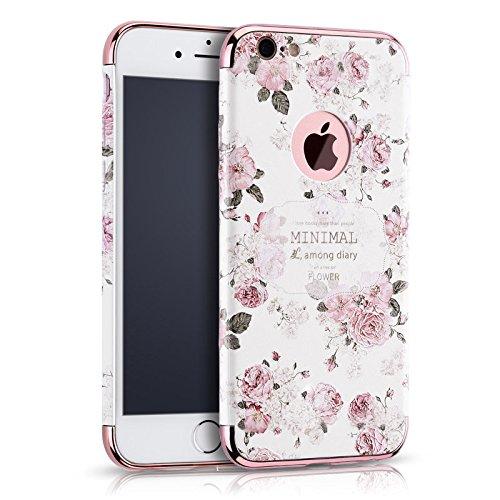 Apple iphone Schutzhülle Kreativität handlich abziehbar case 3D Reliefmalerei Slim PC Hard Back Case Cover (iPhone 7 Plus/7s Plus 5,5 Zoll, Blume 1)