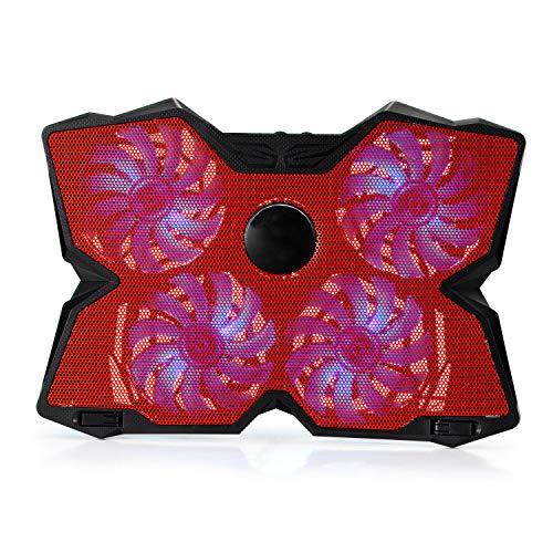 Sxinga Hoch Geschwindigkeit Laptop Notebook Kühler Kühlung Pad Kühlpad für 13-17 Zoll 4/5 Lüfter verstellbar Gaming