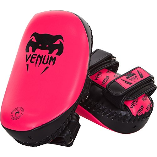 Venum Neon Light Curved Thai Pads (Pink)