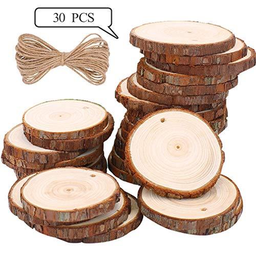 Rodajas Madera Círculos 6-7 cm 30 pcs TICIOSH Discos